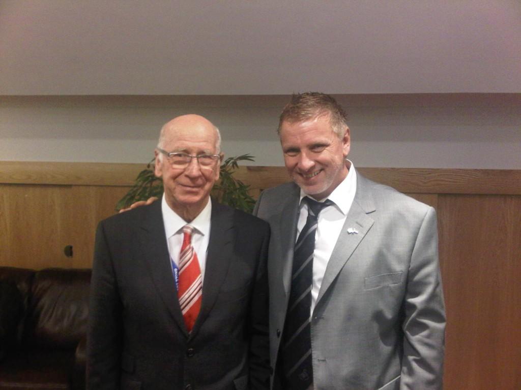 John met  Bobby Charlton